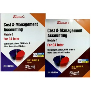 Bharat's Cost & Management Accounting for CA Inter Group I Paper 3 November 2018 Exam [2 Volumes] by CA. R. K. Shukla